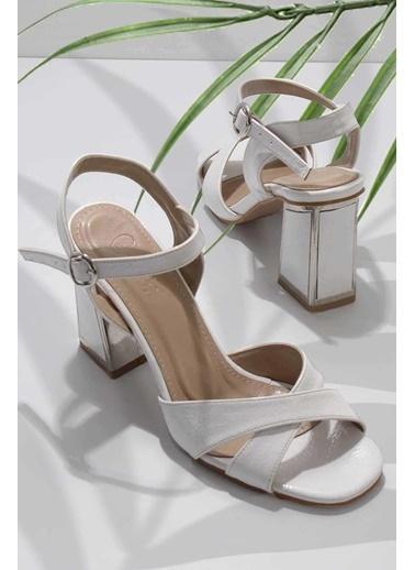 Bambi Abiye Ayakkabı Beyaz